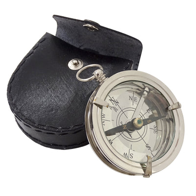 Cook Compass with Leather Case