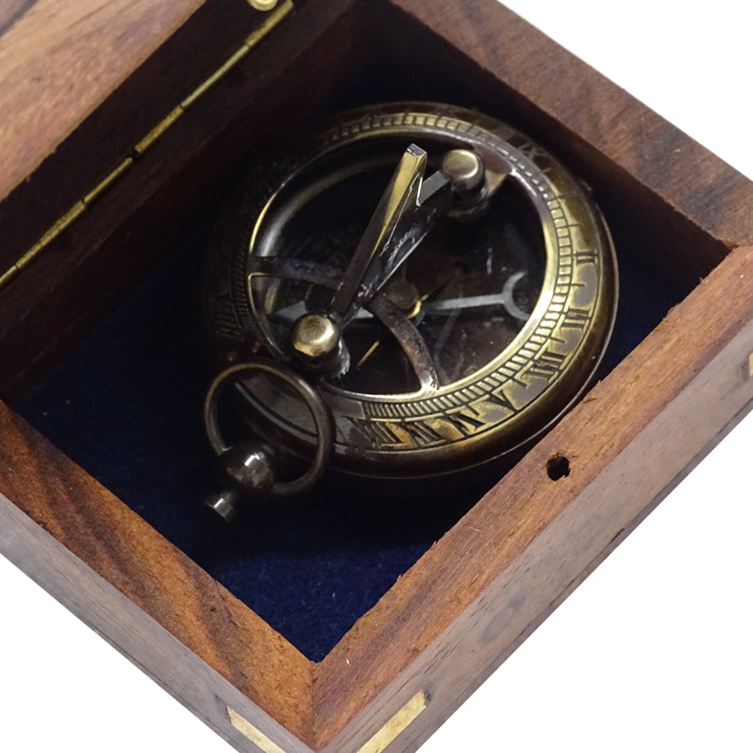Tiverton Compass with Rosewood Timber Case