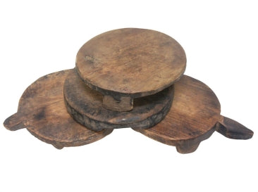 ANTIQUE WOODEN CHAKLOTA ASST - NATURAL
