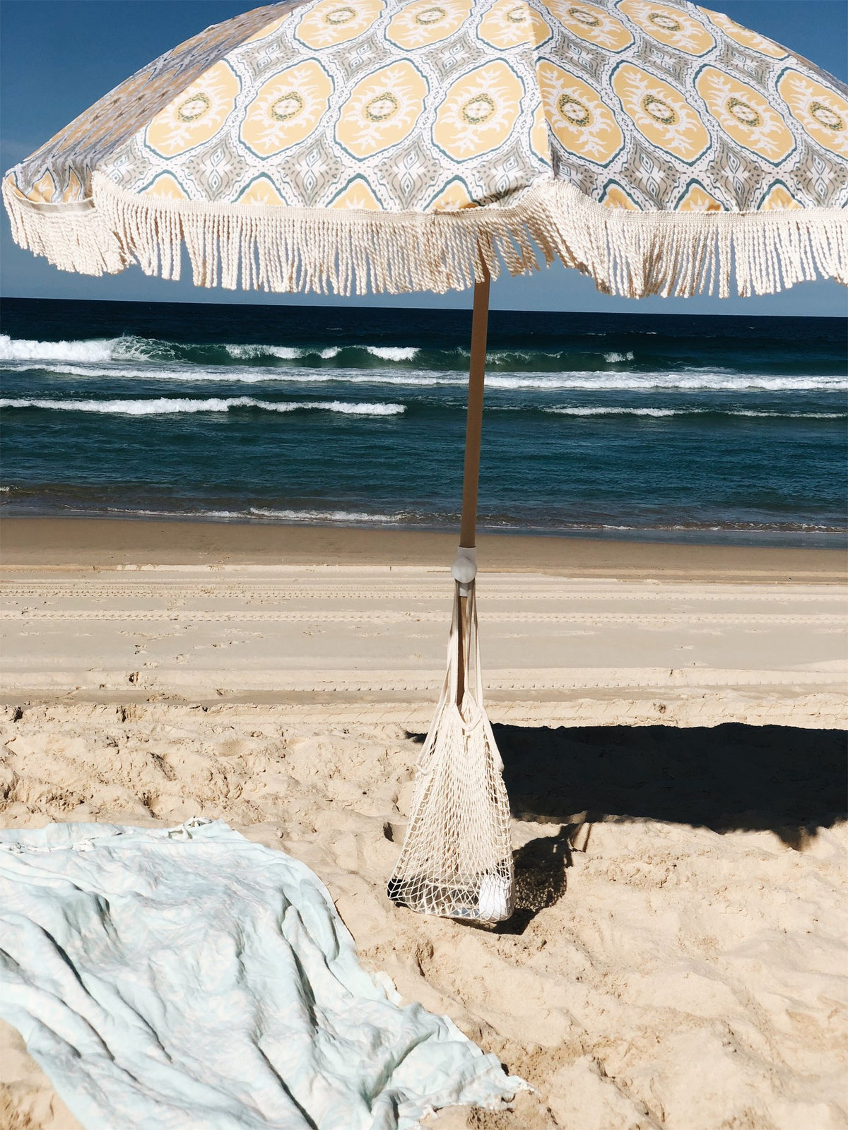 Salty Shadows Beach Umbrella - Ezra