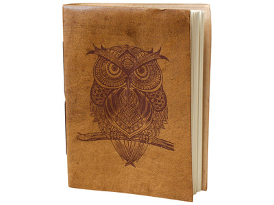 Leather Notebook - The Owl