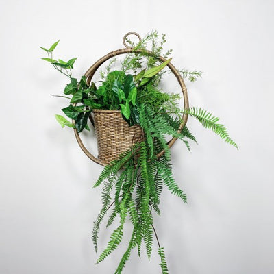 Rattan Woven Hanging Planter Natural
