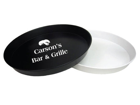 "16"" restaurant serving trays, printed with your logo of choice in the center, wholesale serving trays"