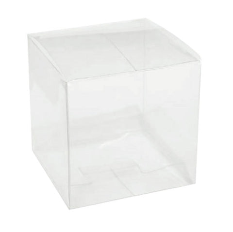 "100 - Clear 3""x3""x3"" Favor Boxes - Perfect for Shot Glasses or Votive Holders"