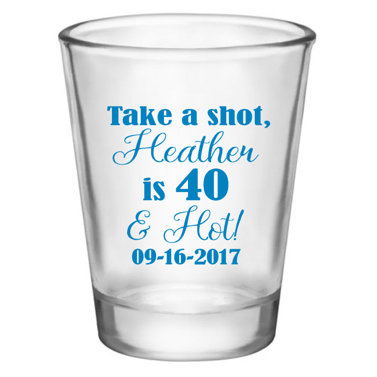 Personalized Birthday Shot Glasses Customized For Any Age Party Favors