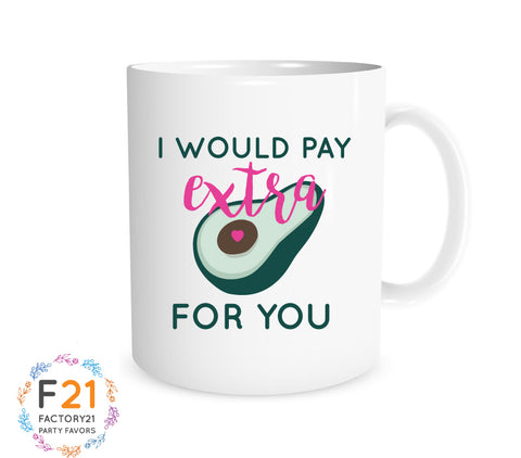 Avocado Valentines day mug