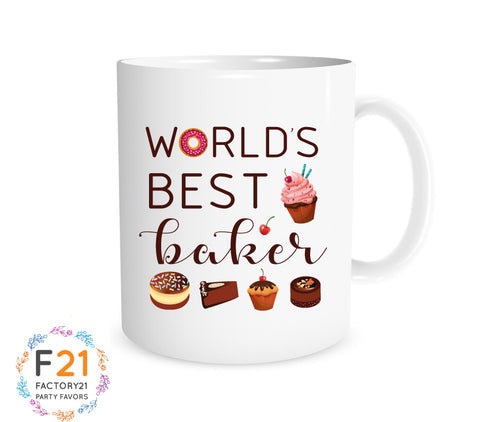 world's best baker mug