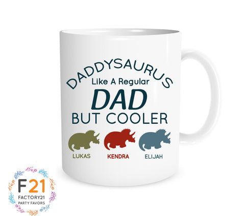 Personalized dad dinosaur mug