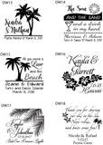 Destination wedding tumblers