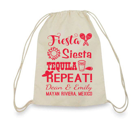Fiesta mexican wedding beach bags