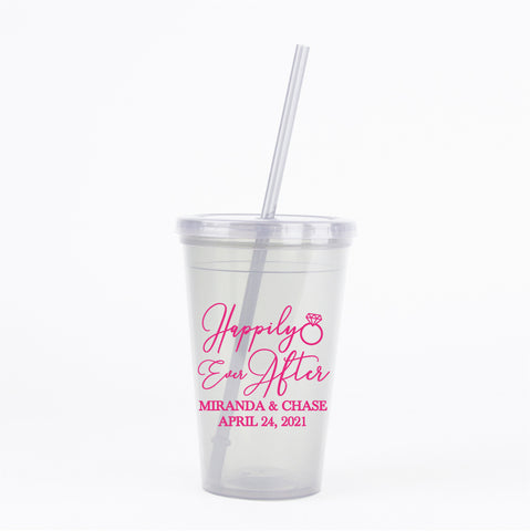 Happily ever after wedding tumblers