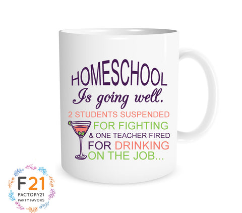 Funny home school mom mug
