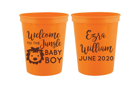 Lion baby shower cups