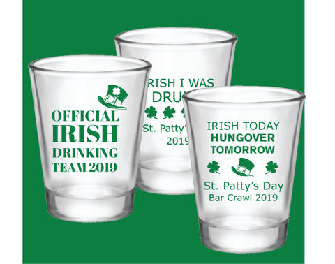 St. Patrick's Day shot glasses