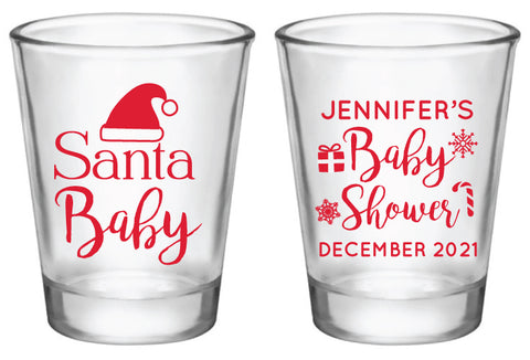 Santa baby shower- shot glasses