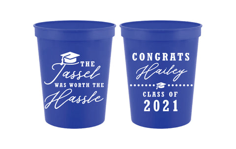 The tassel was worth the hassle- graduation cups