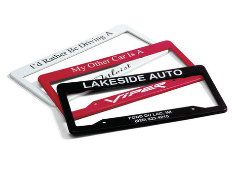 Printed license plate frames (100 pieces per lot)
