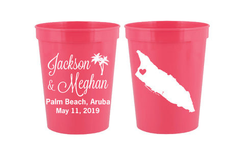 Aruba wedding cups