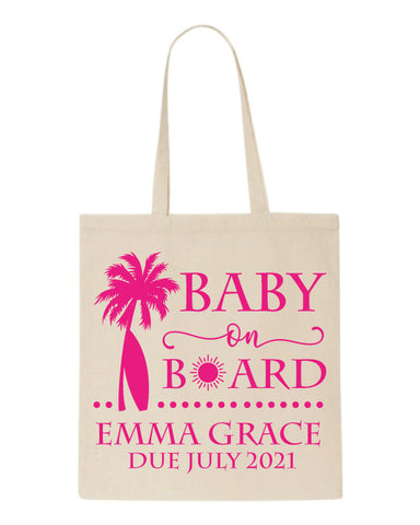 Baby on board tote bags