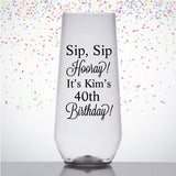 Birthday champagne flutes, personalized for any age birthday, birthday party favors