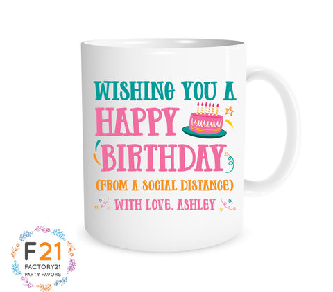Social Distance birthday Mug