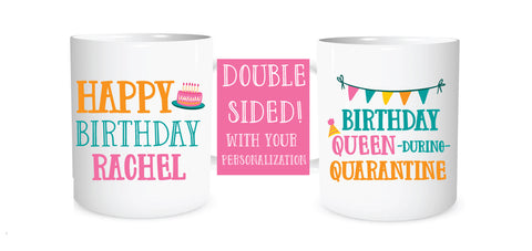 Personalized quarantine birthday mug