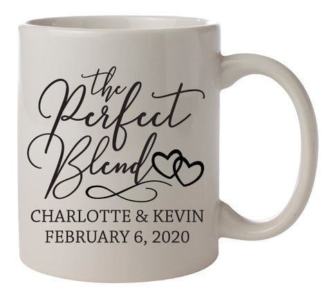 Perfect Blend wedding mugs- Design #3