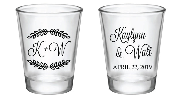 Wedding Shot Glasses.Wedding Favor Shot Glasses