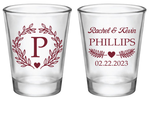 Monogram shot glasses