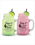 """Taco 'bout Love"" Fiesta wedding mason jars"