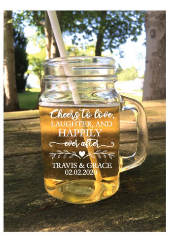 Happily Ever After Mason Jar Favors