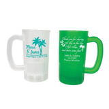 Destination wedding cups, personalized wedding beer steins