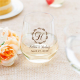 Plastic wine glasses- floral design