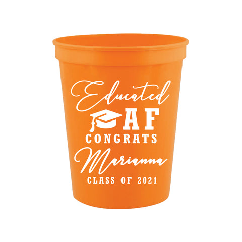 Educated AF- Graduation cups