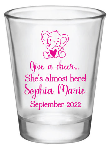 Elephant baby shower shot glasses