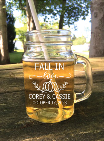 Fall in love mason jars