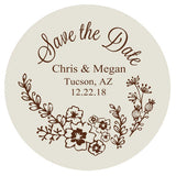 Floral wedding save the dates, save the date magnets, personalized wedding announcements