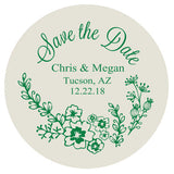 Floral save the date magnets, wedding save the dates, heavy paper magnets