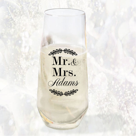 Wedding Champagne flutes, personalized thick plastic flutes