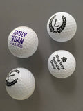 Personalized golf balls, perfect wedding favors, gifts, or promotional for your company!