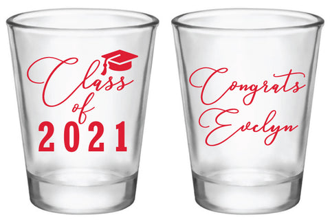 Graduation shot glasses- class of 2021
