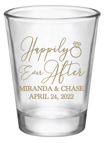Happily ever after- wedding shot glasses