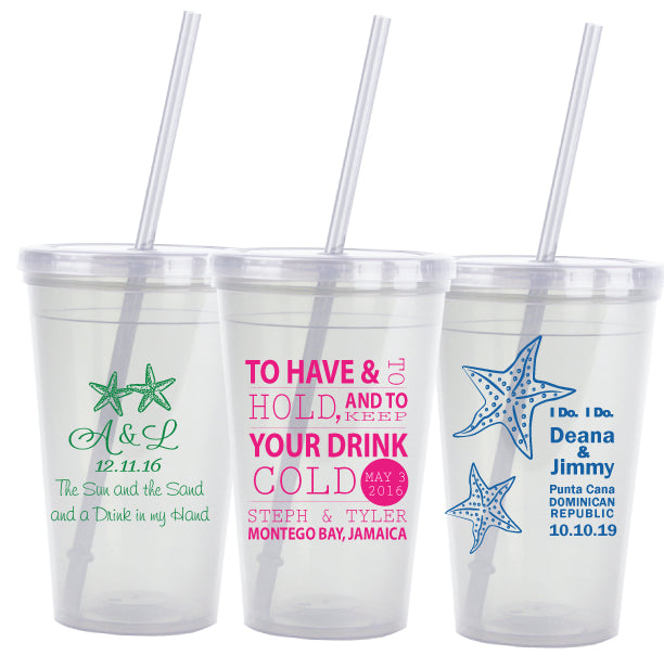 27e00d043de Destination wedding favors, beach wedding tumblers, personalized favors ...