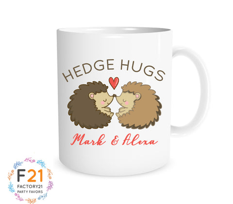 Hedgehog valentines day mug