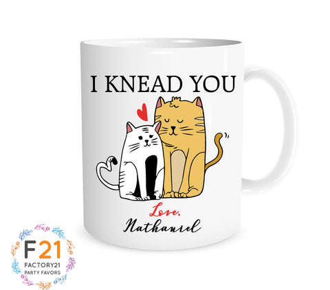 Personalized valentines day cat mug