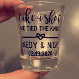 Take a shot we tied the knot