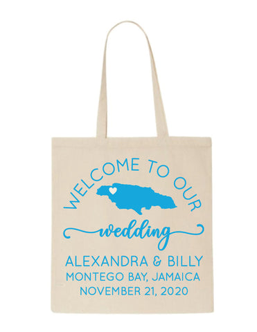 Jamaica wedding welcome bags