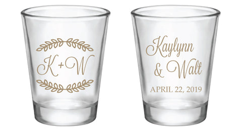 wedding favor shot glasses
