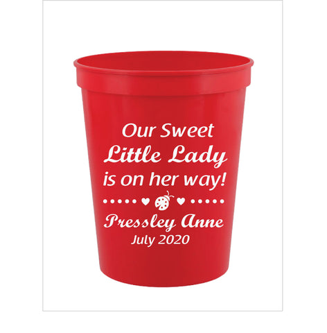 Lady bug baby shower cups