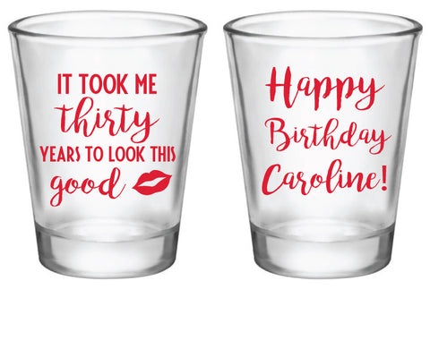 Lipstick birthday shot glasses